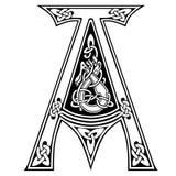 Vector letter `A` Celtic alphabet. Stock Photo