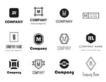 Vector letter M (em) logos icons Stock Photography