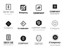 Vector letter O logos icons Royalty Free Stock Photo