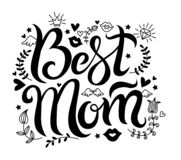 Vector Lettering best mom royalty free illustration