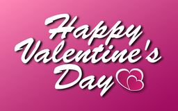 Vector lettering design for Valentines Day greeting card on  pink background royalty free stock images