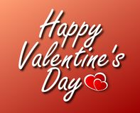 Vector lettering design for Valentines Day greeting card stock images