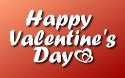 Vector lettering design for Valentines Day greeting card stock photos