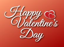 Vector lettering design for Valentines Day greeting card royalty free stock image