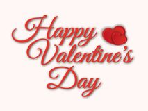 Vector lettering design for Valentines Day greeting card royalty free stock images