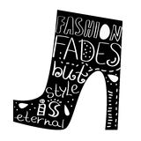 Vector lettering Fashion Fades Royalty Free Stock Photography
