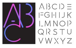 Vector lettering - font alphabet. Royalty Free Stock Photography