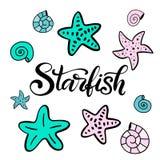Vector lettering illustration with mermaid vector illustration