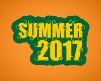 Vector lettering illustration with word summer. Royalty Free Stock Images