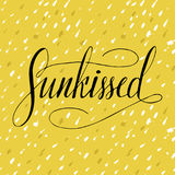 Vector Lettering Summer Card. Handdrawn Positive Unique Calligraphy. Stock Photography