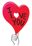 Vector lettering of words I Love You Stock Images
