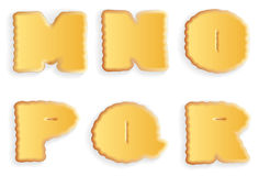 Vector letters of cracker biscuits Stock Image
