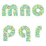 Vector letters Royalty Free Stock Images
