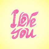 Vector  letters l love you text doodles Stock Image
