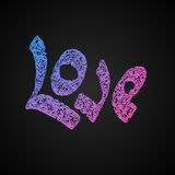 Vector  letters love text doodles Stock Photos