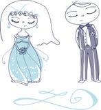 Vector leuk huwelijk 01 Royalty-vrije Illustratie