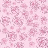 Vector leuk roze bloemen naadloos patroon Stock Fotografie