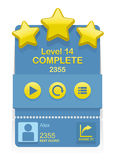 Vector Level Complete game interface Royalty Free Stock Photos