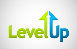 Vector level up message. Growth symbol Royalty Free Stock Photo