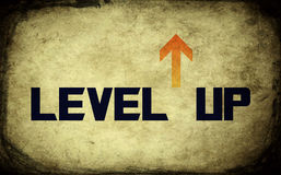 Vector level up message Royalty Free Stock Image