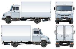 Vector levering/ladingsvrachtwagen Stock Afbeeldingen