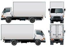 Vector levering/ladingsvrachtwagen Royalty-vrije Stock Afbeeldingen