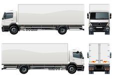 Vector levering/ladingsvrachtwagen vector illustratie