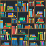 Vector of library book background. Seamless pattern Stock Photo