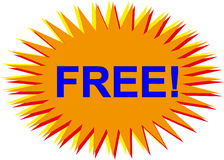 Vector libre del botón para los Web site Fotografía de archivo libre de regalías