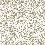 Vector Licht punktiertes nahtloses Muster der Musik mit musikalischen Anmerkungen an Lizenzfreies Stockfoto