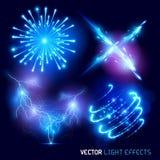 Vector Lichteffecten Royalty-vrije Stock Afbeeldingen