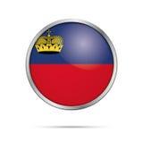 Vector Liechtenstein flag Button. Principality of Liechtenstein Royalty Free Stock Image