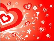 Vector liefdeillustratie Stock Foto