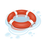 Vector lifebuoy with water Royalty Free Stock Photo