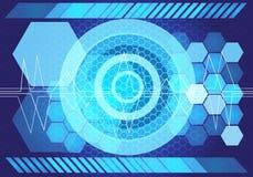 Vector ligero azul abstracto del fondo del diseño de la tecnología del poder Imagen de archivo libre de regalías