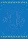 Vector light blue card. Light blue  card with flora Royalty Free Stock Images
