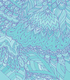 Vector light blue illustration of doodle drawing. Abstract lines Royalty Free Stock Images