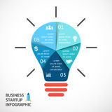 Vector light buble infographic. Template for Royalty Free Stock Image