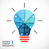 Vector light buble infographic. Template for Royalty Free Stock Images