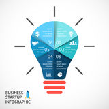 Vector light buble infographic. Template for Stock Photography