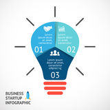 Vector light buble infographic. Template for Stock Photos