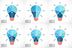 Vector light buble infographics set. Template for Stock Photos
