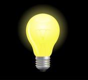 Vector light bulb. Bright and glowing light bulb Stock Photos