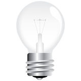 Vector light bulb royalty free stock images
