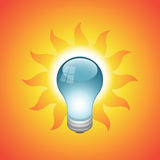 Vector light bulb. EPS 8.0 file available vector illustration