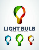 Vector light bulb abstract symbols, new idea concept Stock Image