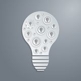 Vector light bulb with cogs gears. Creativity concept. Royalty Free Stock Photo