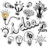 Vector light bulb Doodle hand drawn Stock Photos