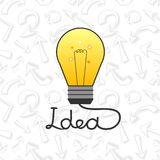 Vector light bulb in flat style element ideas Stock Photos