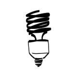 Vector light bulb hand drawn Royalty Free Stock Image